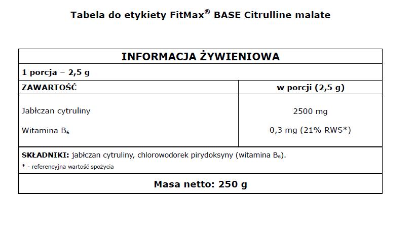Citrulline malate BASE